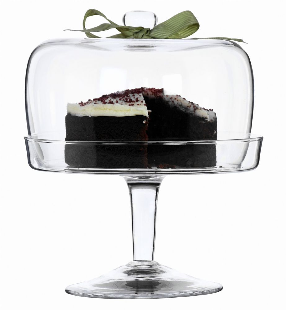 Footed Glass Cake Stand & Dome 25cm – Party Ideas by Solavia